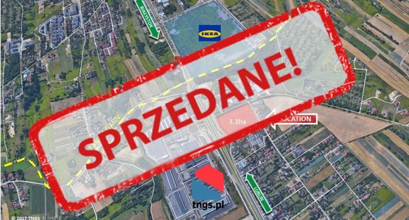 teren inwestycyjny 3,3ha - SPRZEDANY Elizówka przy LHR / S12 - TNGS Tomasz Karman - Biuro Obsługi Inwestora - Lublin