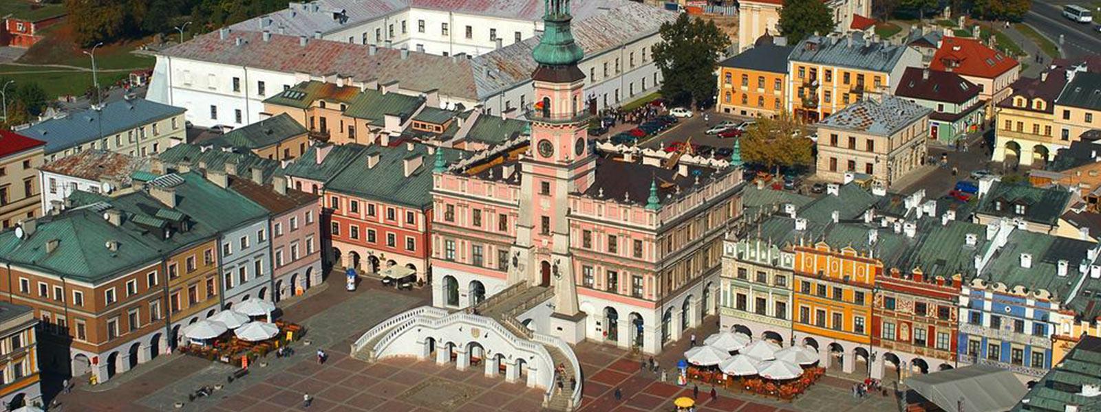Zamość Rynek Starego Miasta  hotel - TNGS Tomasz Karman - Biuro Obsługi Inwestora - Lublin