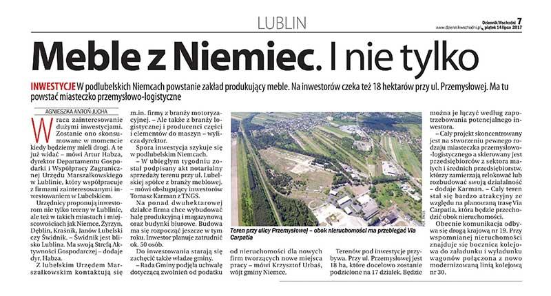 Meble z Niemiec. - TNGS Tomasz Karman - Biuro Obsługi Inwestora - Lublin