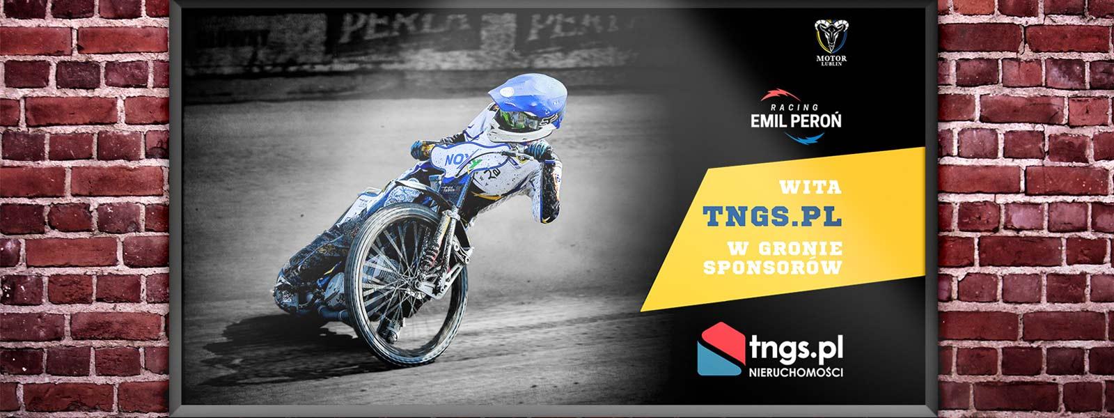 TNGS.PL sponsorem Emil Peroń Racing - TNGS Tomasz Karman - Biuro Obsługi Inwestora - Lublin